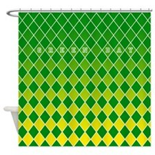 Green Bay Yellow and Green Shower Curtain