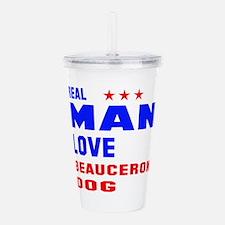 Real Man Love Beaucero Acrylic Double-wall Tumbler