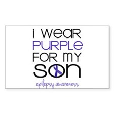 I Wear Purple for My Son Decal