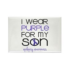I Wear Purple For My Son Magnets