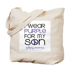 I Wear Purple for My Son Tote Bag