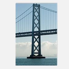 bay bridge tower Postcards (Package of 8)