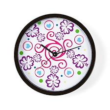 Cute Flower girl Wall Clock