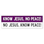 No Jesus! Bumper Sticker