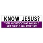 Jesus Meds Bumper Sticker