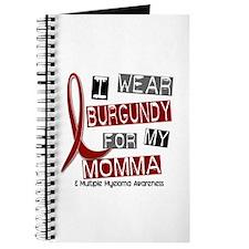 Multiple Myeloma I Wear Burgundy 37 Journal