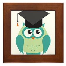 Graduating Owl Framed Tile