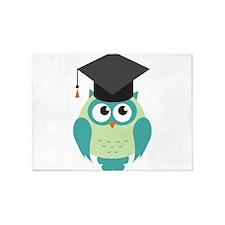 Graduating Owl 5'x7'Area Rug