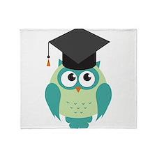 Graduating Owl Throw Blanket