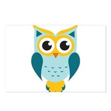 Teal Owl Postcards (Package of 8)
