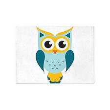 Teal Owl 5'x7'Area Rug