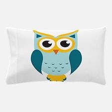 Teal Owl Pillow Case