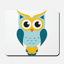 Teal Owl Mousepad