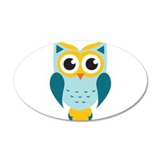 Teal Owl Wall Decal
