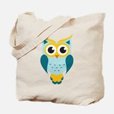 Teal Owl Tote Bag