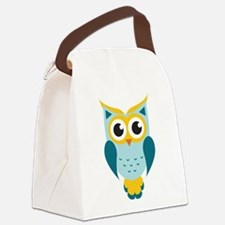 Teal Owl Canvas Lunch Bag