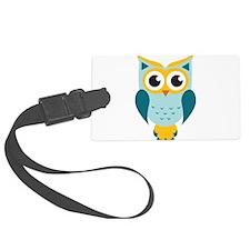 Teal Owl Luggage Tag