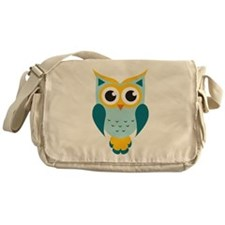 Teal Owl Messenger Bag