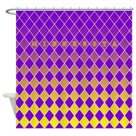 Minnesota Purple And Yellow Shower Curtain By CurtainsForShowers