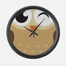 Winking Owl Large Wall Clock