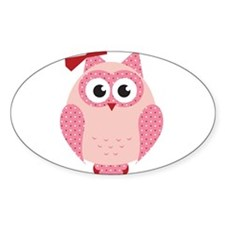 Owl with Bow Decal