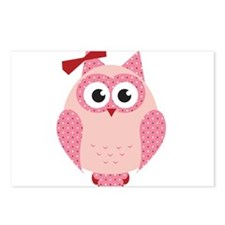 Owl with Bow Postcards (Package of 8)