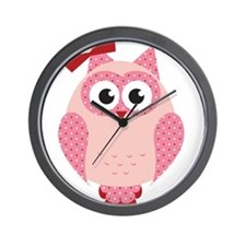 Owl with Bow Wall Clock