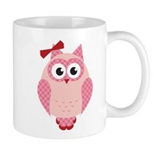 Owl with Bow Mugs