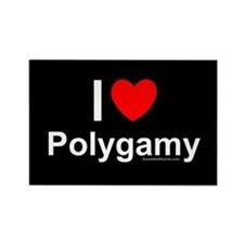 Polygamy Rectangle Magnet
