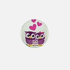 Owl Family Mini Button