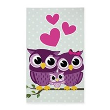 Owl Family 3'x5' Area Rug