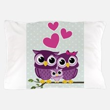 Owl Family Pillow Case