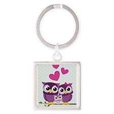 Owl Family Keychains