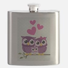 Owl Family Flask