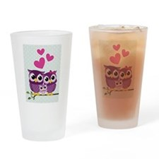 Owl Family Drinking Glass