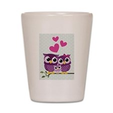 Owl Family Shot Glass