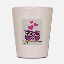 Owl Family Shot Glass