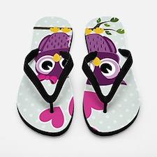 Owl Family Flip Flops