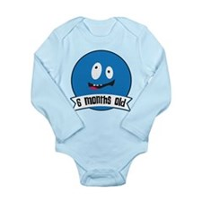 Monthly Silly Faces: 6 months old Body Suit