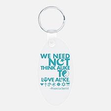 Need Not Think Alike Dark Keychains