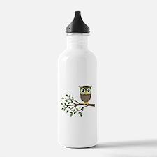 owl on branch Water Bottle