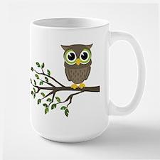 owl on branch Mugs