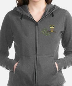 owl on branch Zip Hoodie