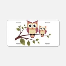Duo of Owls Aluminum License Plate