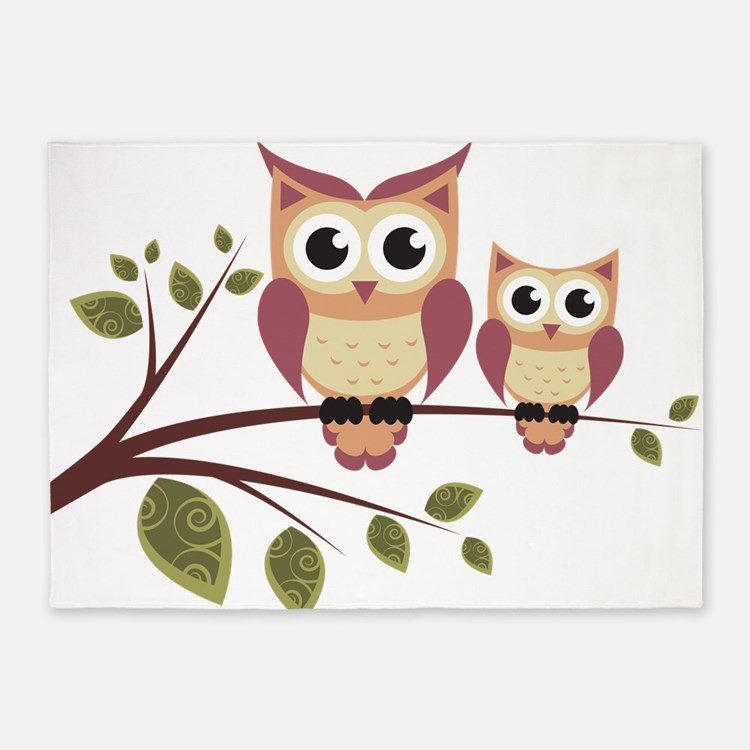 Duo of Owls 5'x7'Area Rug
