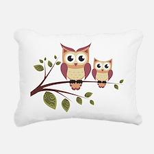 Duo of Owls Rectangular Canvas Pillow