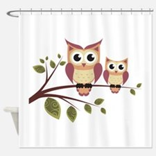 Duo of Owls Shower Curtain