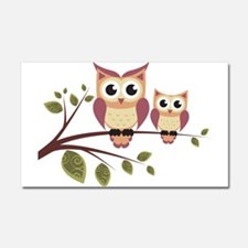 Duo of Owls Car Magnet 20 x 12
