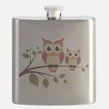 Duo of Owls Flask