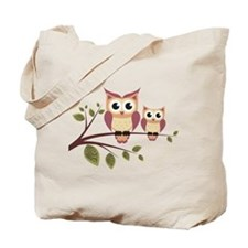 Duo of Owls Tote Bag